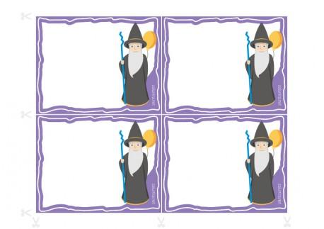 UitnodigingenPrintklare uitnodigingen voor verjaardagsfeestjes - De Tovenaar Linus